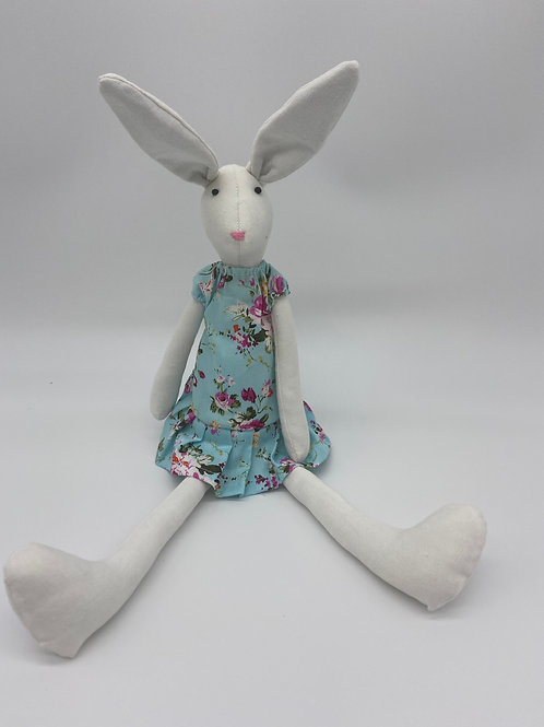 Soft Toy Bunny - Blue Dress