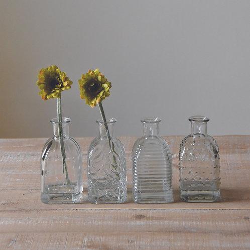 Square Bottle Vase 4 AssortedDesigns