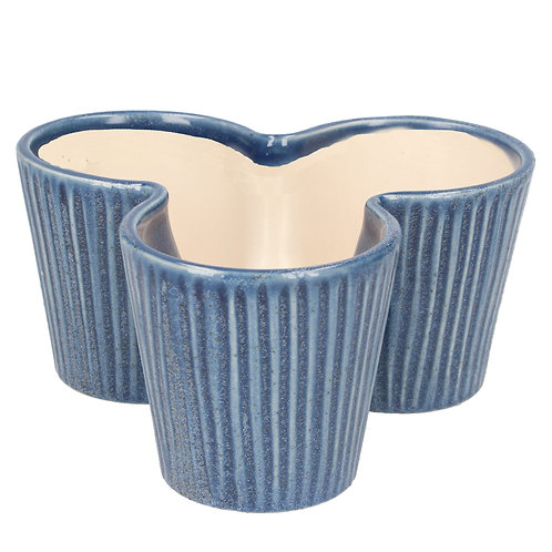 Ceramic - Blue Trio Pot Cover