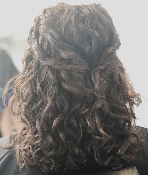 naturally curly bridal hair