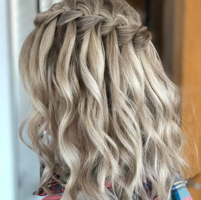waterfall braid with waves