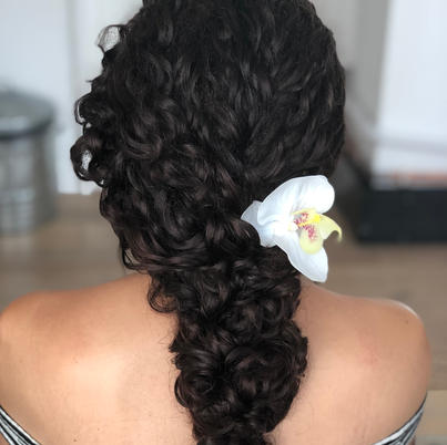 beautiful braided curly hair