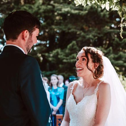 curly bridal hair, modern bridal makeup