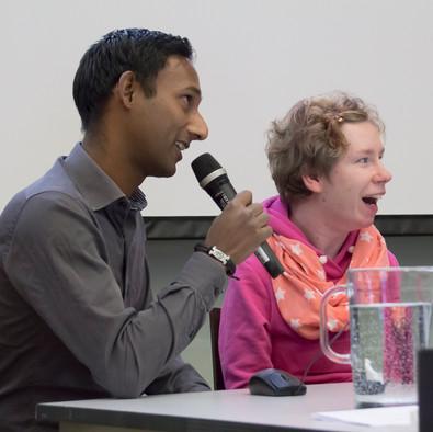 Keynote 3: erfarenhetstalare Ida Westerlund och assistenten Sven Sjöberg.