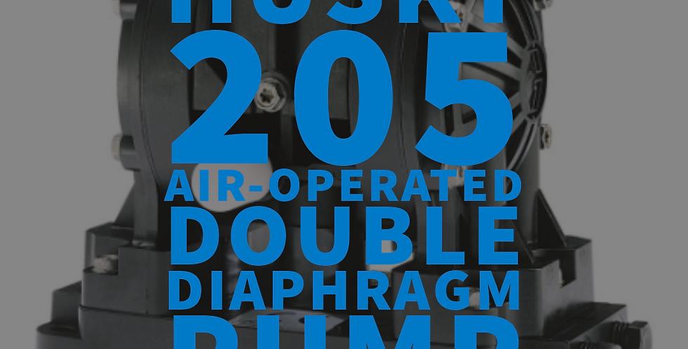 Husky 205 6.35mm Plastic Air-Operated  Double Diaphragm Pump NPT/BSP