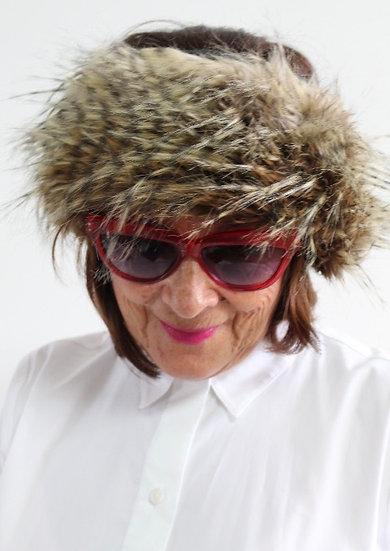 VELDA Headband in Feathered Brown