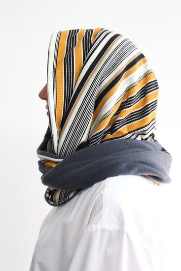 DOTTIE Hood in 90s Ochre Stripe