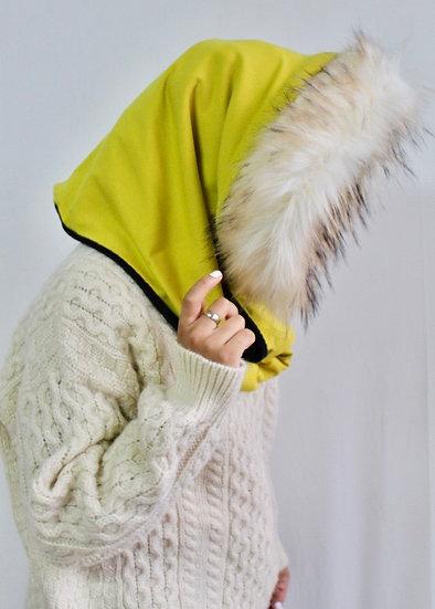 BELLA Hood in Golden Yellow and Black