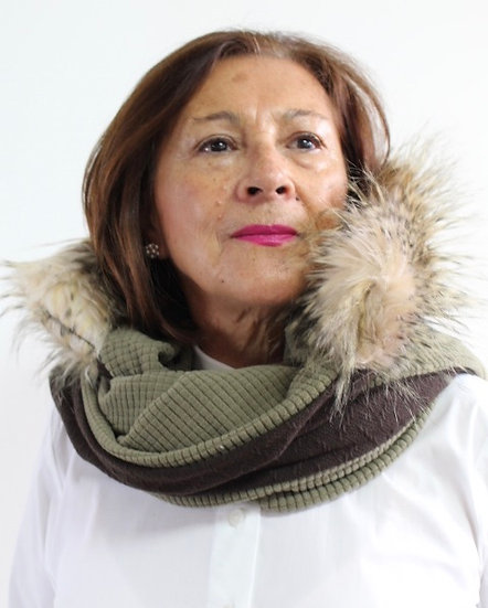 LENA Scarf in Brown and Sage