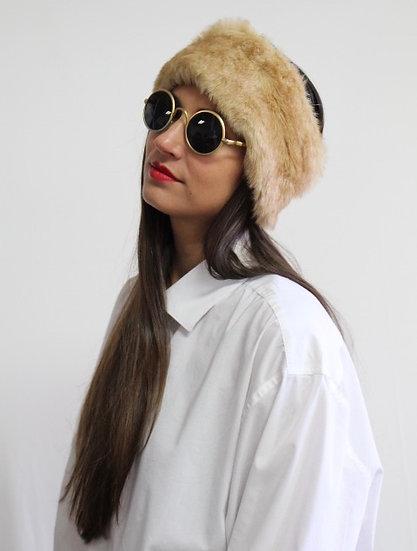 VELDA Headband in Tan
