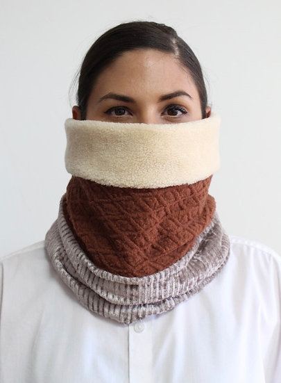 CARLOS Scarf in Browns/ Neutrals