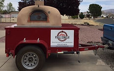 Catering a party with wood fired pizza