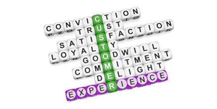 Customer Experience  Scrabble Tiles