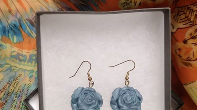 Sparkling Silver Signature Rose Earrings