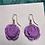Thumbnail: Light Violet Signature Rose Earrings