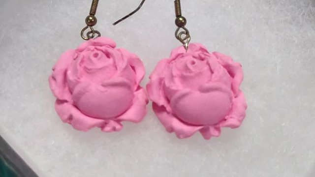 Light Pink Signature Rose Earrings