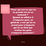 #67 citation comment on se traite parfoi