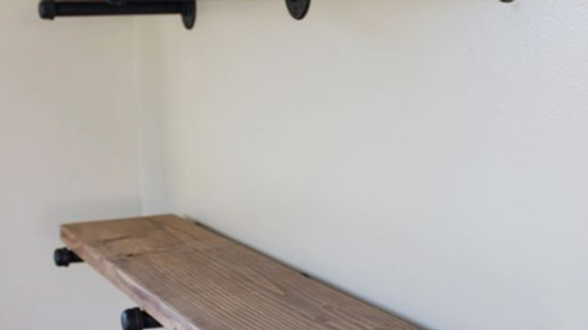 Industrial Wood Shelves