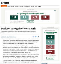 stark in victory