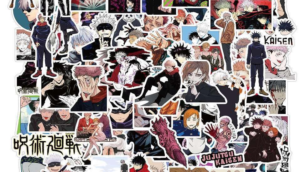 10/50/100pcs Anime Jujutsu Kaisen Stickers Waterproof Decals