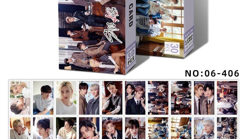 30pcs/Set Kpop STRAY KIDS ATEEZ Twice GOT7 Red Velvet NCT MONSTA X Photocards