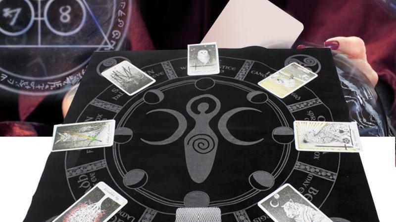 49x49cm Tarot Tablecloth Altar Tarot Twelve Constellations Astrological