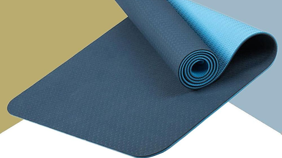183*61cm 6mm Thick Double Color Non-Slip TPE Yoga Mat Quality for Fitness