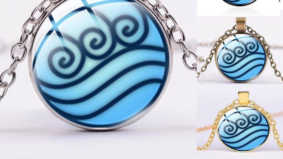 SONGDA New Avatar the Last Airbender Necklace Air Nomad Fire and Water Tribe