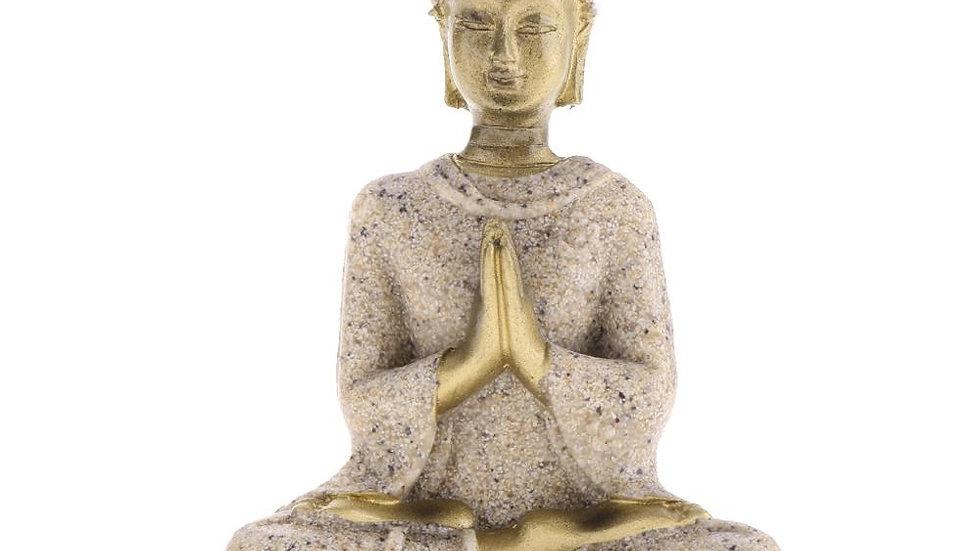 Sandstone Meditation Buddha Statue Sculpture Handmade  Meditation Miniatures