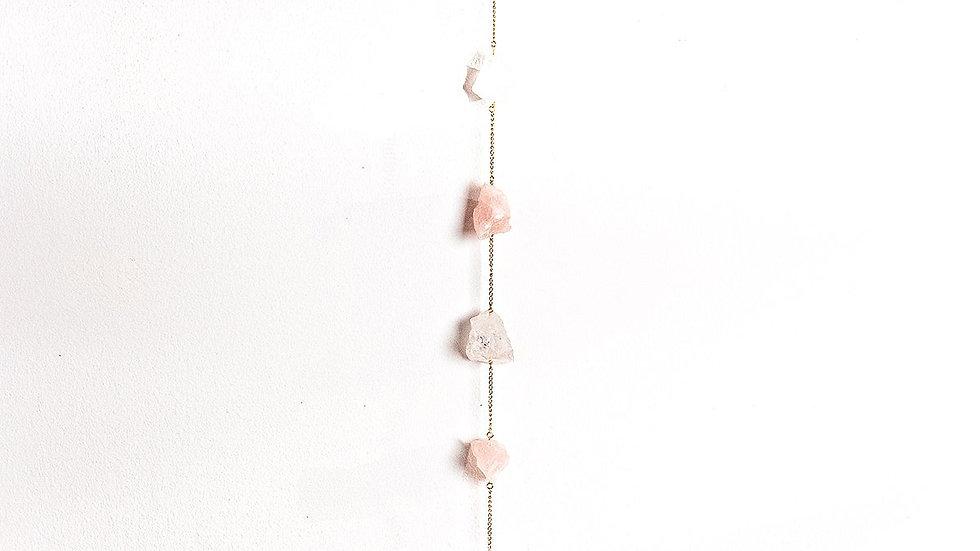"""Rose Quartz + Clear Quartz 24"""" Wall Hanging"""