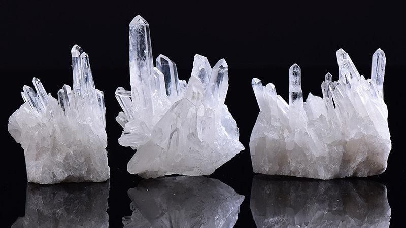 1PC Natural White Crystal Cluster Quartz  Healing Reiki Crystal Point