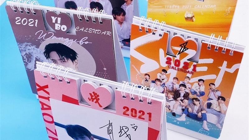 Kpop Calendar STRAY KIDS TWICE TREASURE GOT7 SEVENTEEN Xiao Zhan Wang Yi Bo Kpop