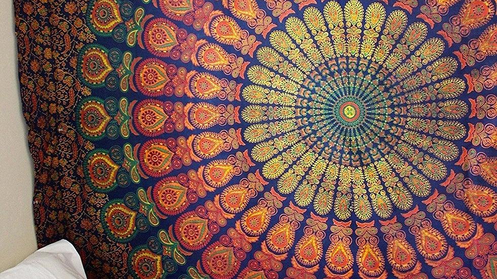 Large 200x150cm Mandala Tapestry Bohemian Beach Blanket Yoga Mat