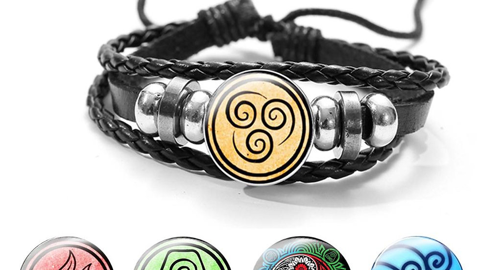 SONGDA Avatar the Last Airbender Leather Bracelet Air Nomad Fire and Water Tribe