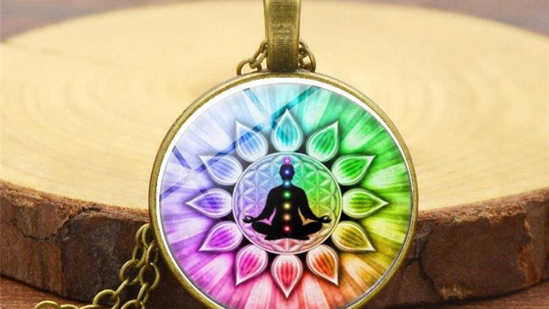 Chakra Reiki Healing Necklace Pendant Jewelry