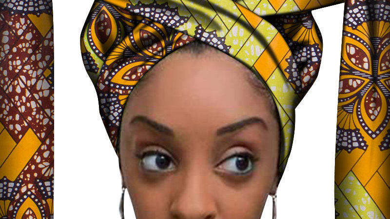 African Headwrap Hair Accessories Scarf Wrapped Head Turban