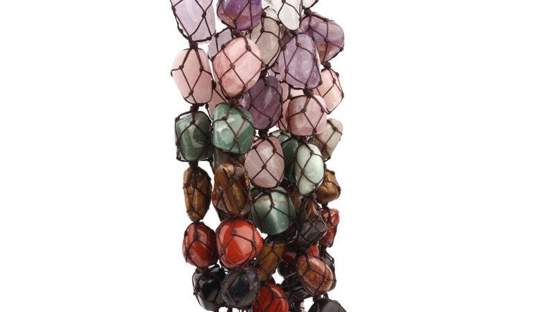 Natural Quality Gem Seven Chakras Reiki Healing Stone String