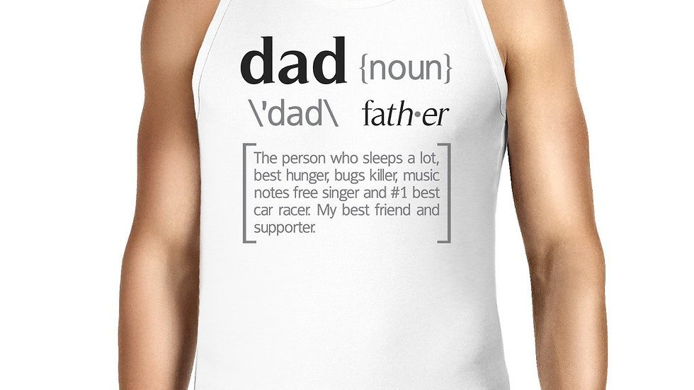 Dad Noun Mens White Graphic Tanks Unique Dad Gifts for Fathers Day