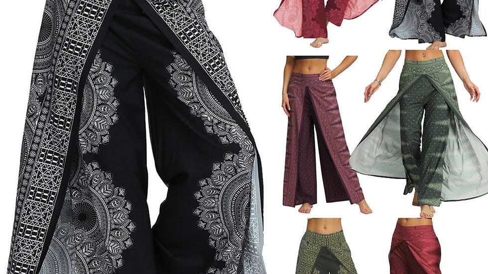 Bohemian Pants Women Thai Indonesian Style Printed Trousers 13 Colors Leg Pants