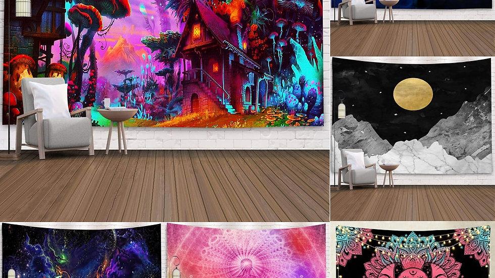 2020 Multicolour Mandala Wall Hanging Tapestry Boho Meditation Mat  95x73 Cm