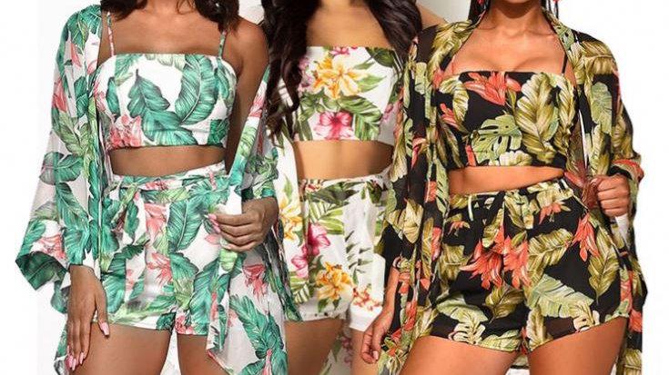 OSINA Fashion Print Ensembles 3 Piece Set Women