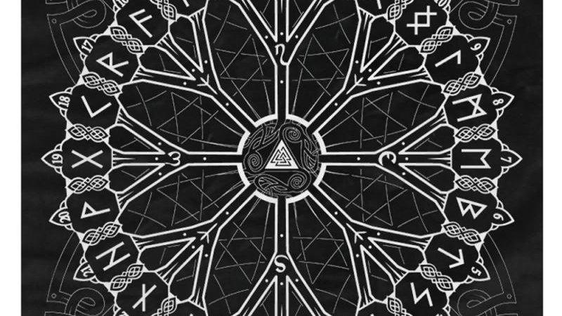 49x49cm Tarot Triple Moon Altar Tarot Cloth