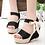 Thumbnail: Summer Platform Wedge Sandals Ankle Strap Fish Mouth Espadrilles