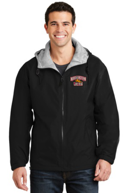 Northeastern Black Hoodie Jacket