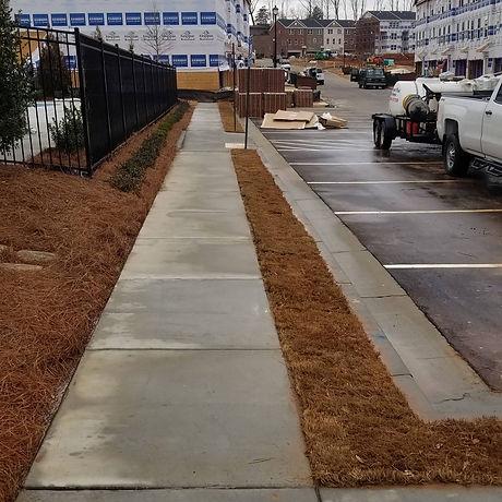 Concrete walkways and side walks