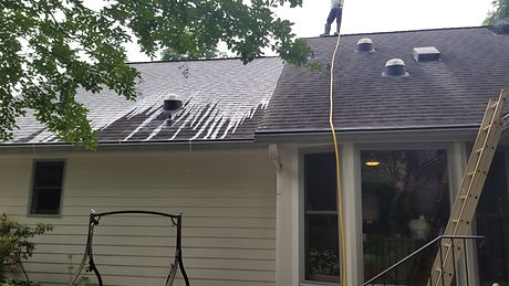 Roof on a home