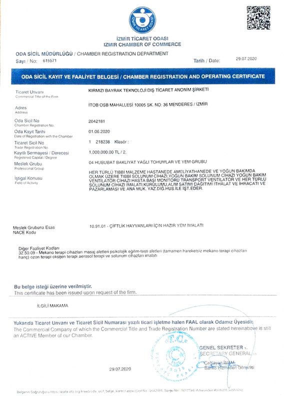Company registration document