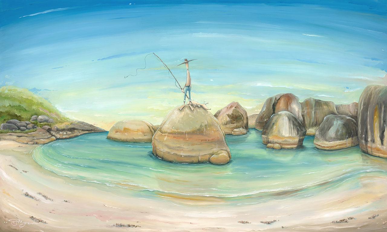 Man on an Elephant Rock