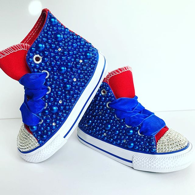 Crystal and Pearl Converse! These custom