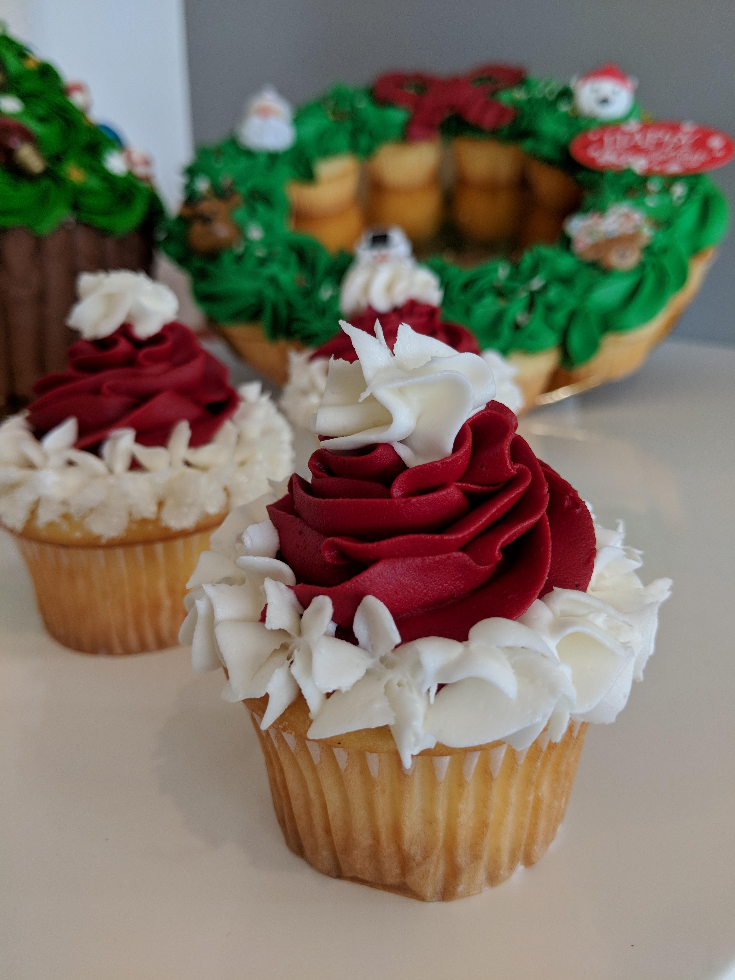 Santa Hat Cupcake $3.50